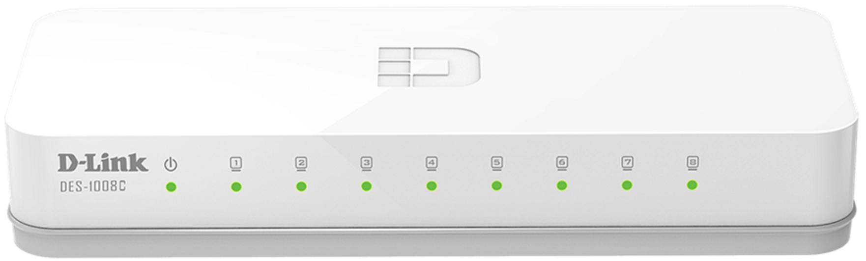 Switch 8 Portas D-link Des-1008c 10/100mbps